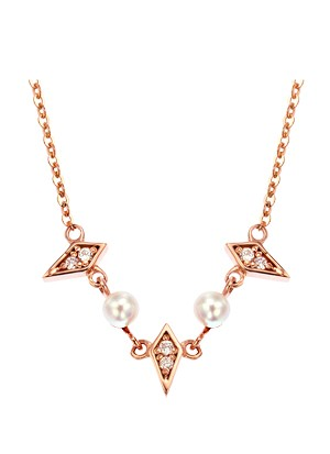 [14K Gold]멜팅 펄 목걸이Melting pearl necklace j3829
