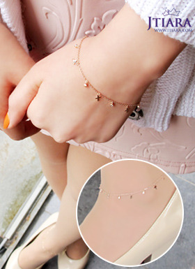 [14K Gold]핑크 포인트 팔찌 / 발찌 Pink Point Bracelet / Anklet no.22