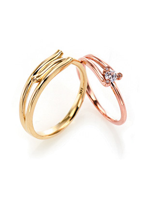 [14K Gold] 데스티니 커플링 Destiny Couple Ring no.j3442