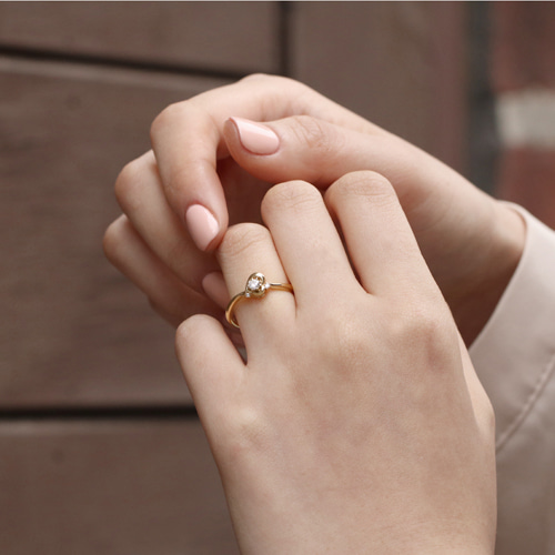 14K 샤인 하트 반지 14K Shine Heart Ring