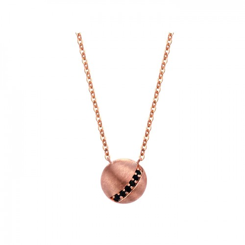 [14K Gold]블랙 써클 목걸이Black circle necklace j3671