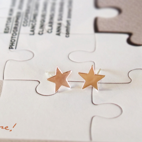 [14K Gold] 론리 스타 귀걸이 Lonely Star Earrings no.15
