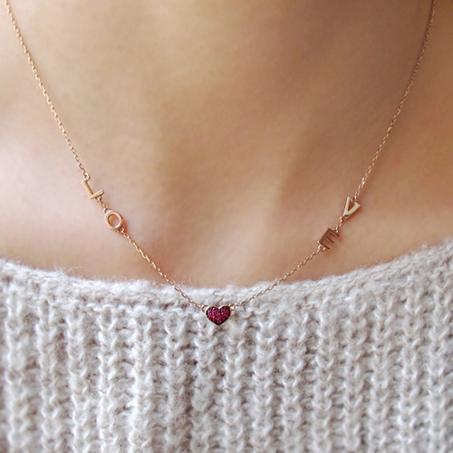 [14K Gold] 러브 이즈 목걸이 Love is Necklace no.38