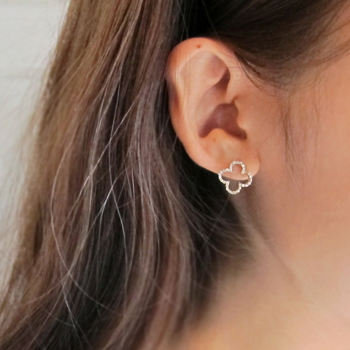 [14K Gold] 클로버 마인드 귀걸이 Clover Mind Earrings no.36