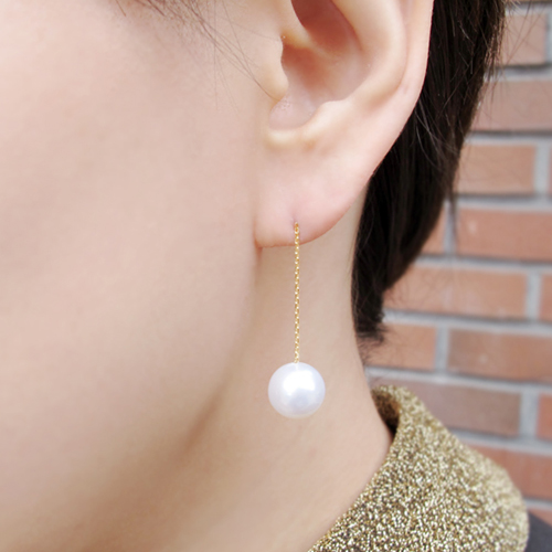 [14K Gold/11mm] 화이트 데이 귀걸이 White Day Earrings no.56