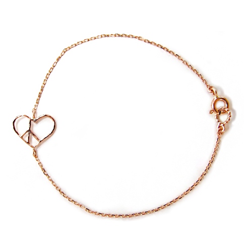 [14K Gold] 하트 피스 팔찌 Heart Peace Bracelet no.15
