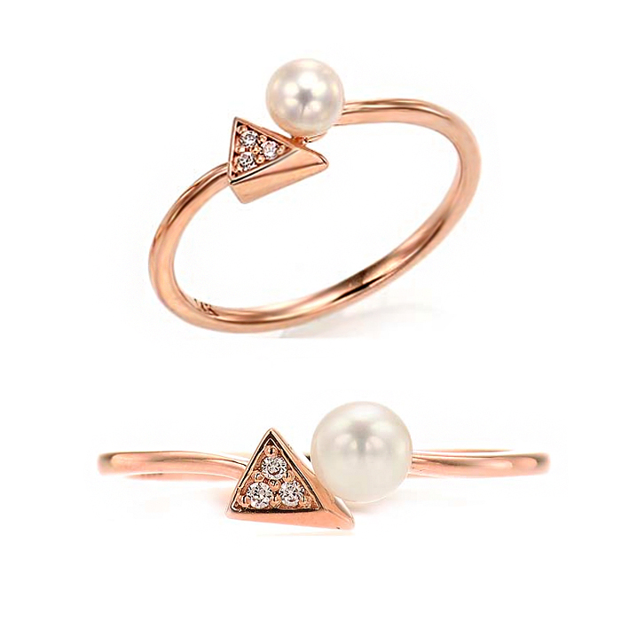 [14K Gold] 유니크 진주 반지Unique Pearl Ring no. j3831