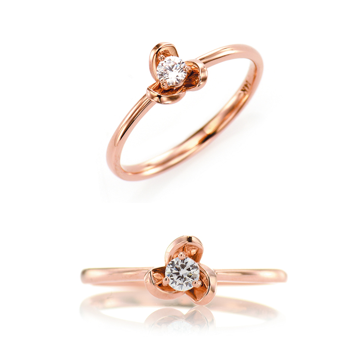 [14K Gold] 로즈 봉봉 반지 Rose BongBong Ring no.j3345