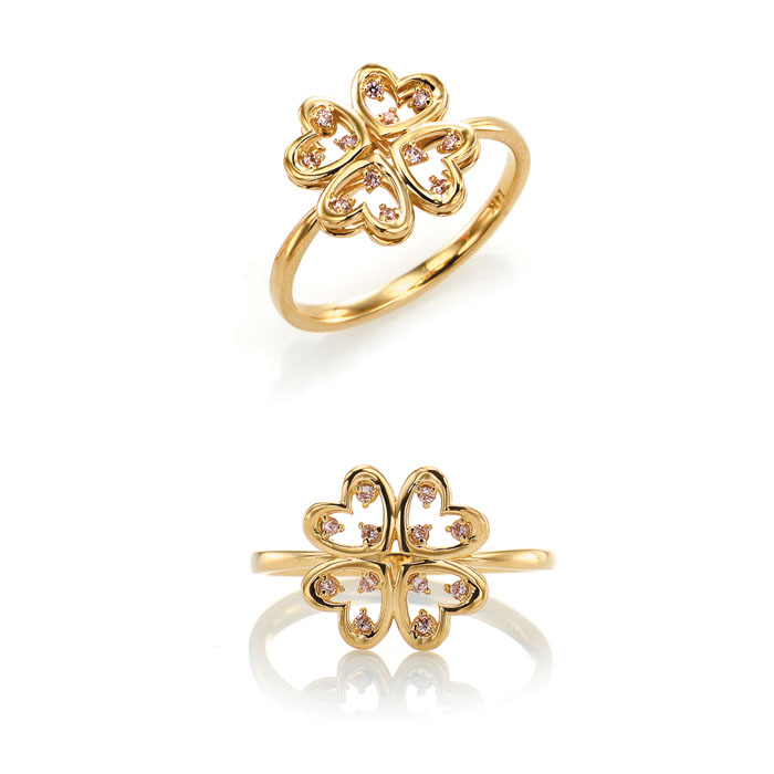 [14K Gold] 럭키 클로버 반지 LUCKEY CLOVER Ring no.j3397