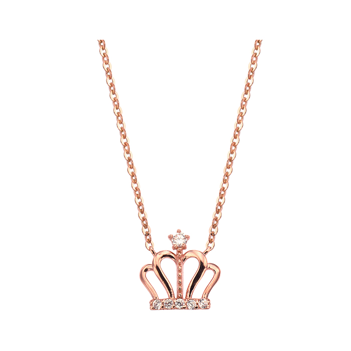 [14K Gold] 큐트 크라운 하트 목걸이 Cute Crown Heart Necklace no. j3703