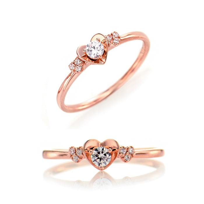 [14K Gold] 마이 스파크 하트 반지 My Spark Heart Ring no.j3211