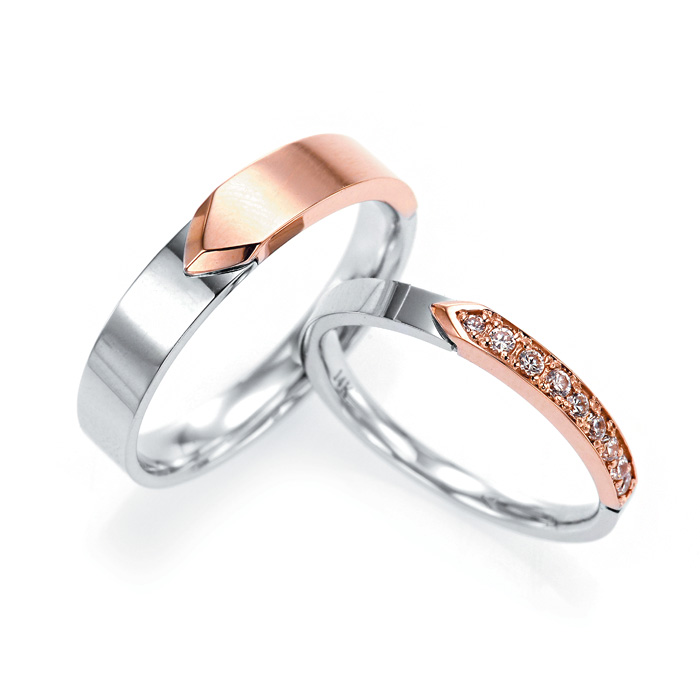 [14K Gold] 피오나 하프 커플링 Piona Half Couple Ring no.j3673