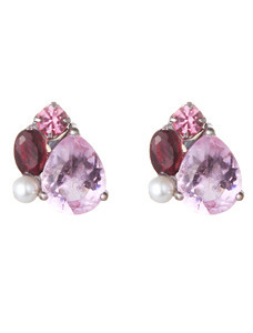 (Silver)어바니티 핑크 이어링 Urbanity Pink Pierced Earrings