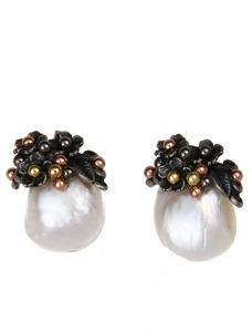 (Sliver)클래식 진주 귀걸이Classic Pearl Pireced Earrings