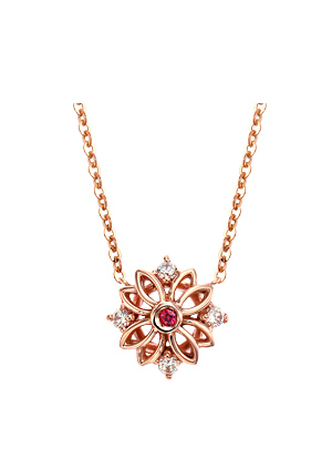 [14K Gold]히든 플라워 목걸이Hidden flower Necklace j3645