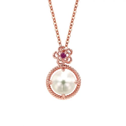 [14K/18K Gold]플라워 펄 목걸이Flower Pearl Necklace j5300