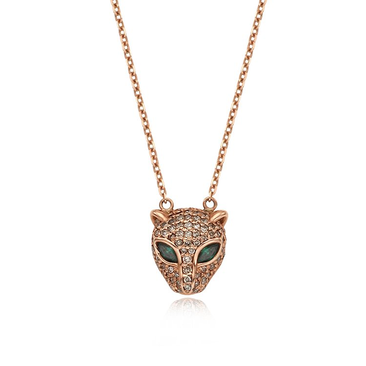 [14K/18K] Wild Jaguar Necklace 와일드 재규어