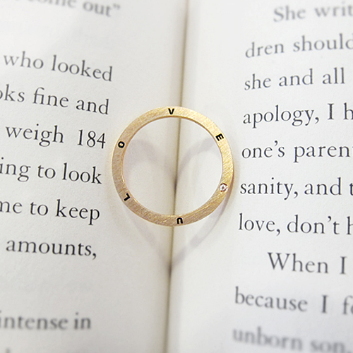 [14K, 18K Gold] Love U Ring 러브 유 반지 no.06