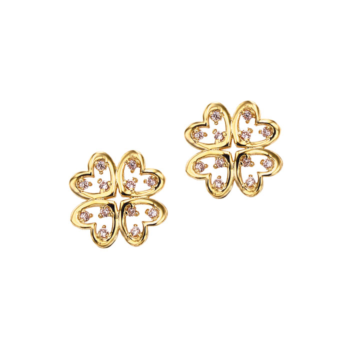 [14K Gold] 럭키 클로버 귀걸이 LUCKEY CLOVER Earring no.j3397