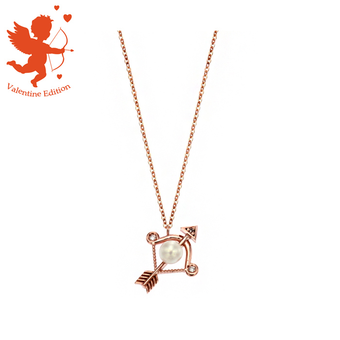 [14K Gold] 큐피트 발렌타인 목걸이 Cupid Valentine Necklace no.j4144