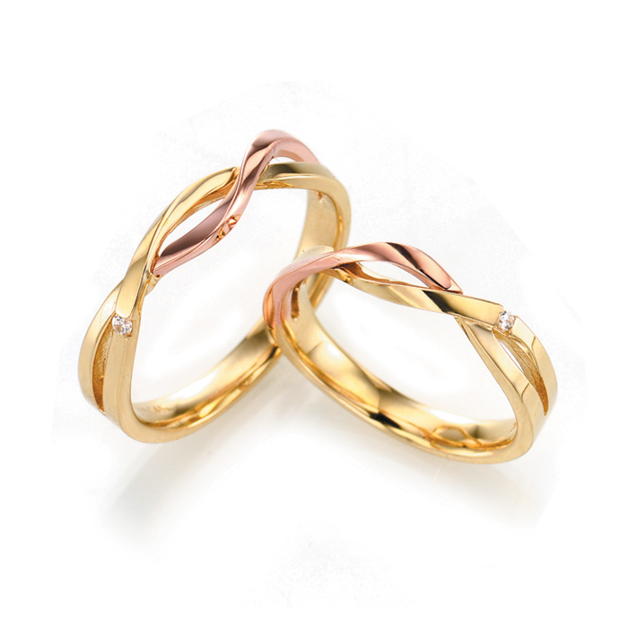 [14K Gold] 소프트 엠마 커플링 Soft Emma Couple Ring no.3339